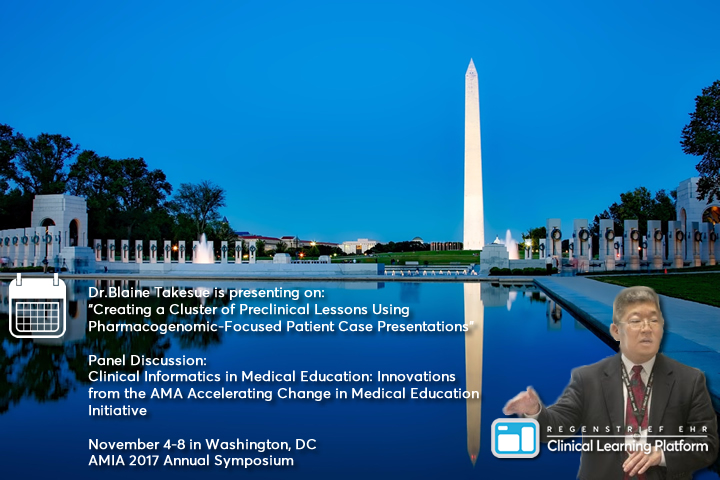 Upcoming EHR Clinical Learning Platform Event: AMIA 2017 in Washington DC November 4-8, 2017